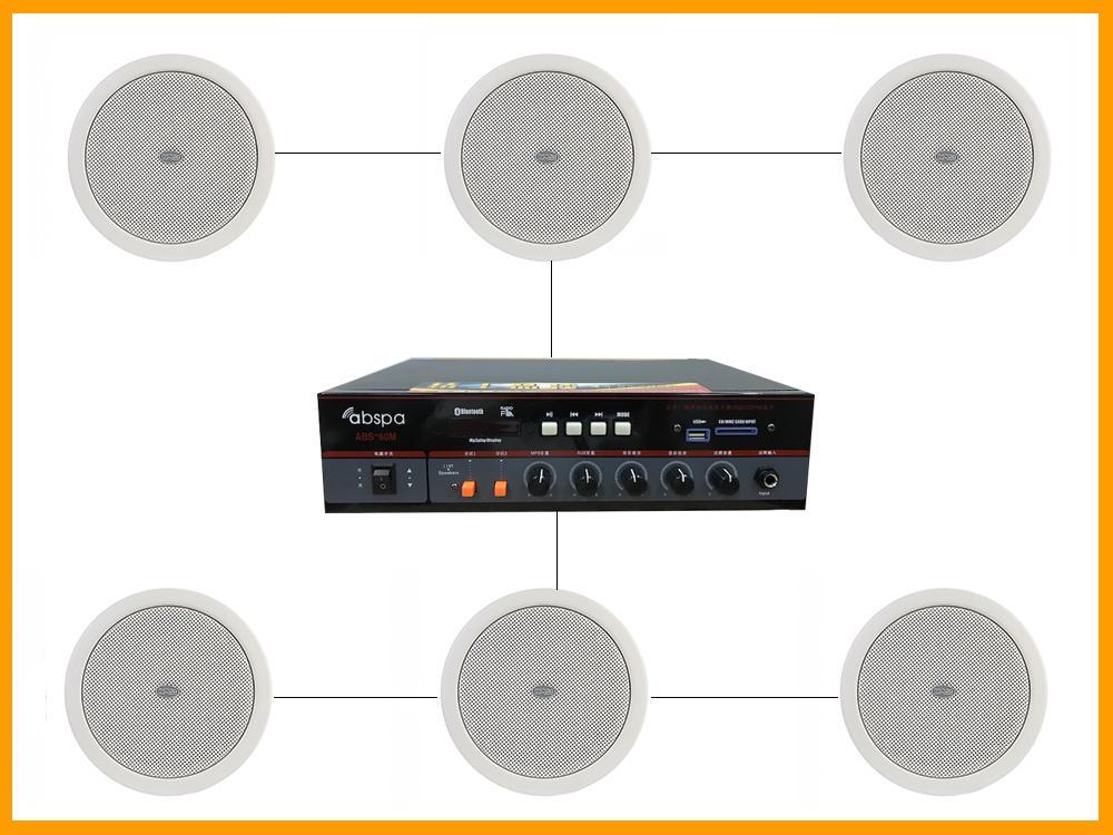 giải pháp loa âm trần trong lắp đặt âm thanh spa