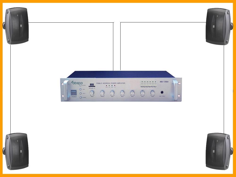 giải pháp loa treo tường trong lắp đặt âm thanh spa